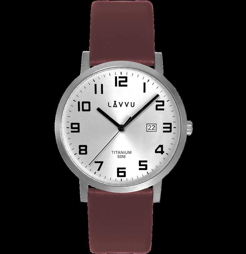 LAVVU Extrémně lehké titanové hodinky LAVVU TITANIUM LYNGDAL Silver LWM0210