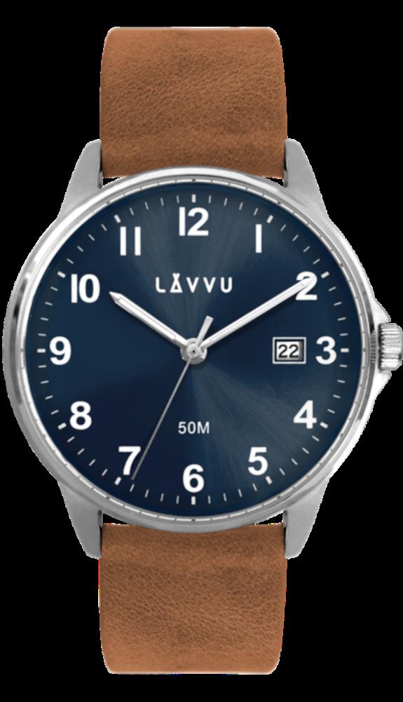 LAVVU Hnědo-modré hodinky LAVVU GÖTEBORG LWM0111