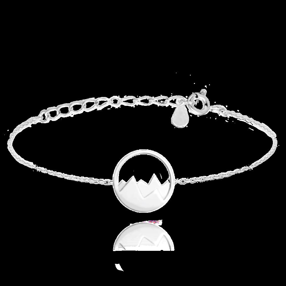 MINET Cestovatelský stříbrný náramek MINET HORY JMAN0122SB16