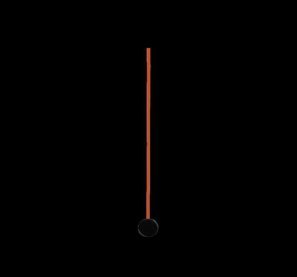 Červené sekundová ručička 80 mm