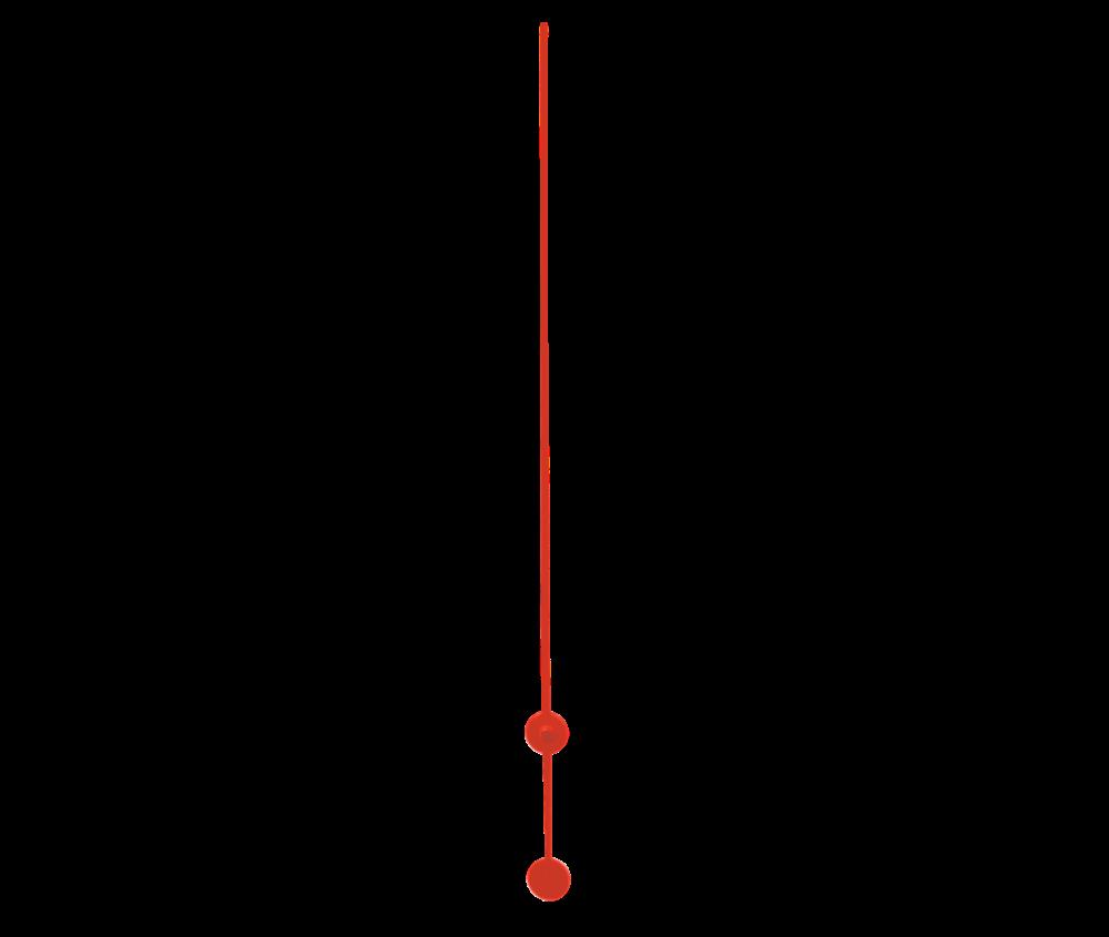 Červená sekundová ručička 110 mm