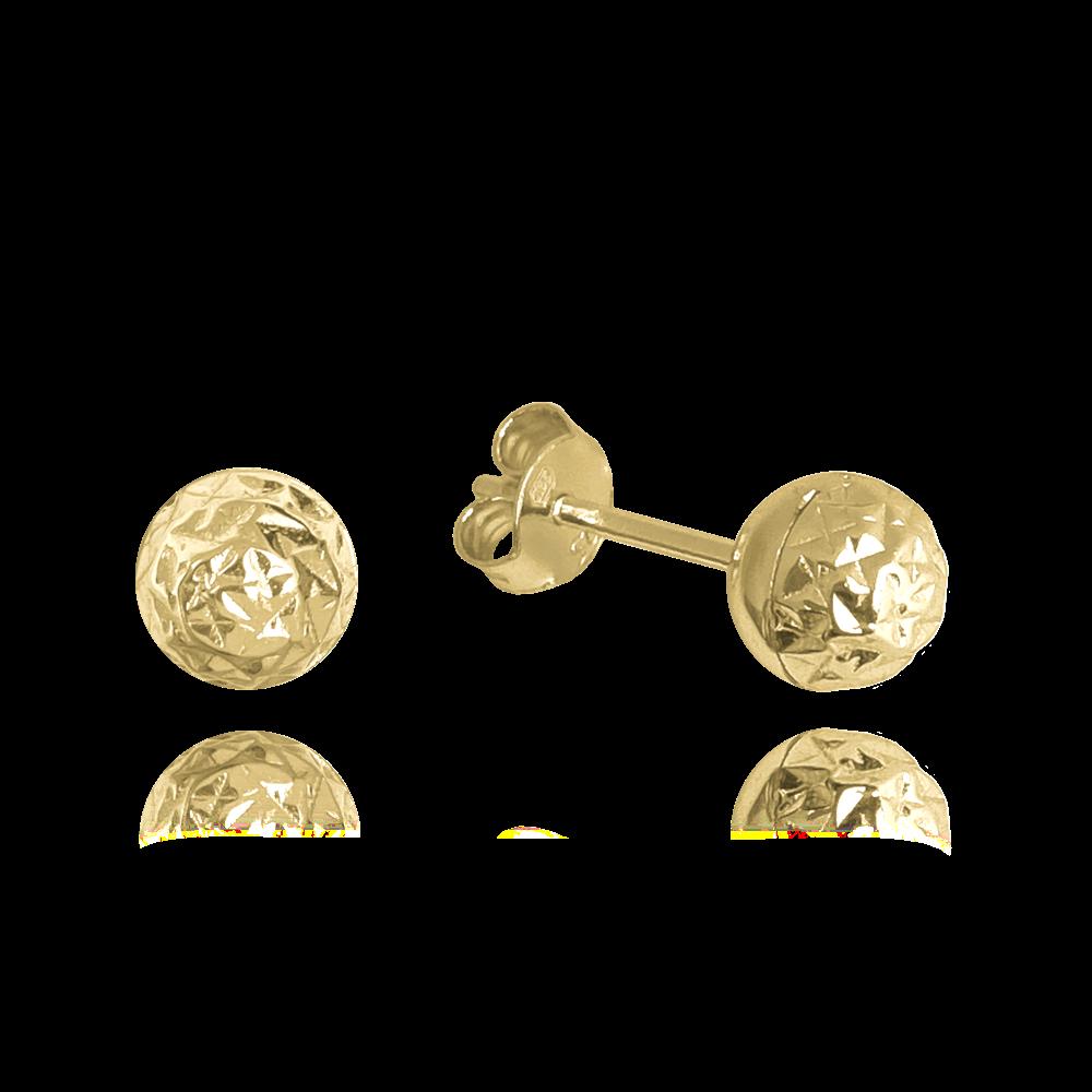 MINET Pozlacené broušené stříbrné náušnice MINET KULIČKY JMAS0117GE00