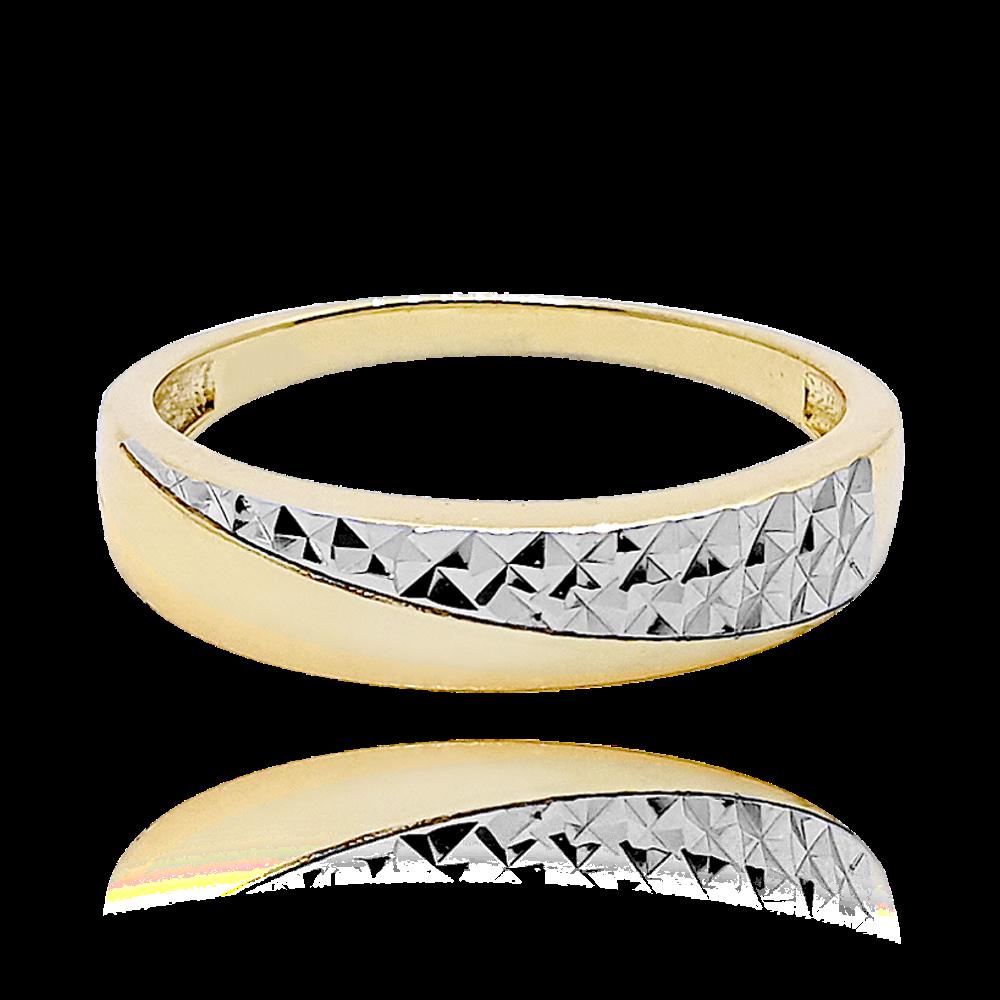 MINET Luxusní stříbrný pozlacený prsten MINET vel. 61 JMAS0119GR61