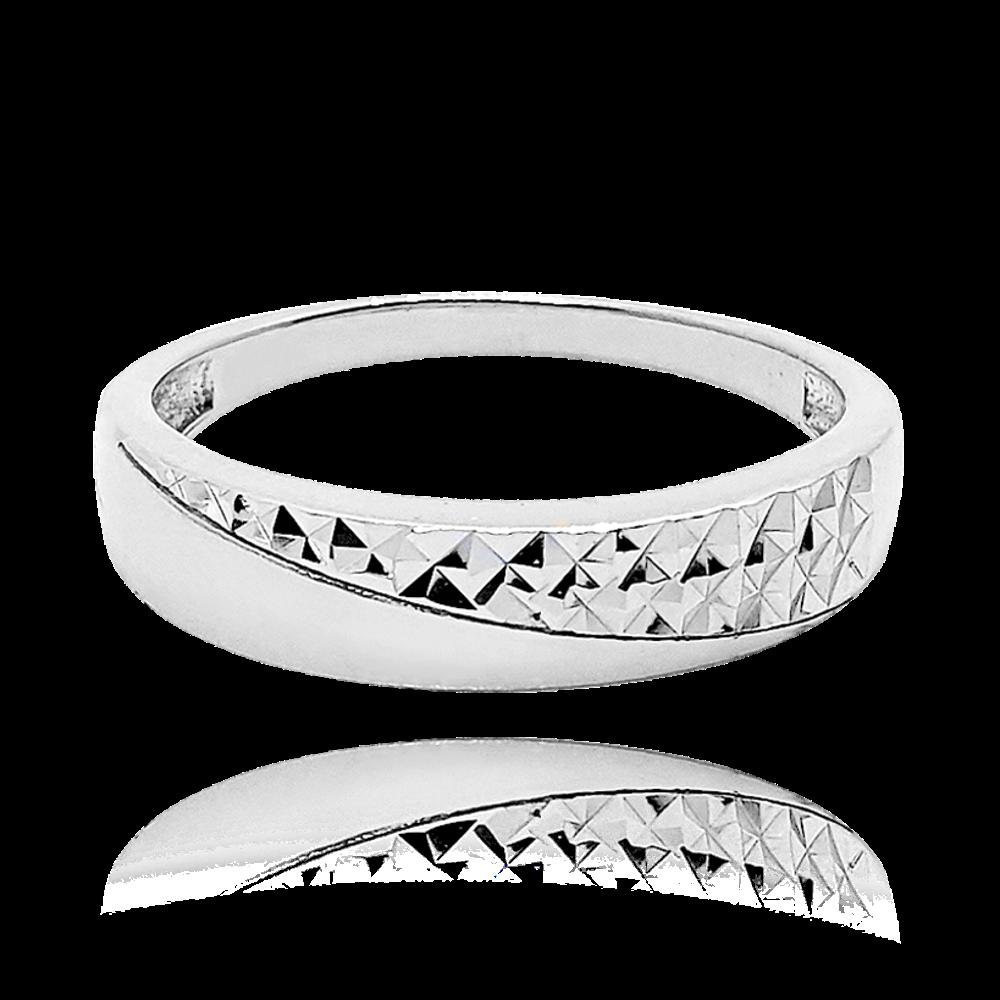 MINET Luxusní stříbrný prsten MINET vel. 61 JMAS0119SR61