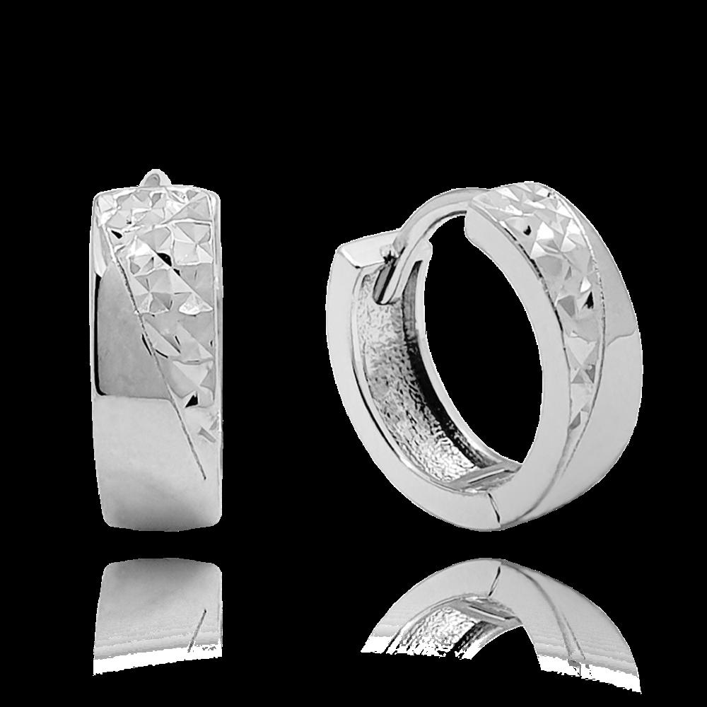 MINET Luxusní stříbrné náušnice MINET JMAS0119SE00
