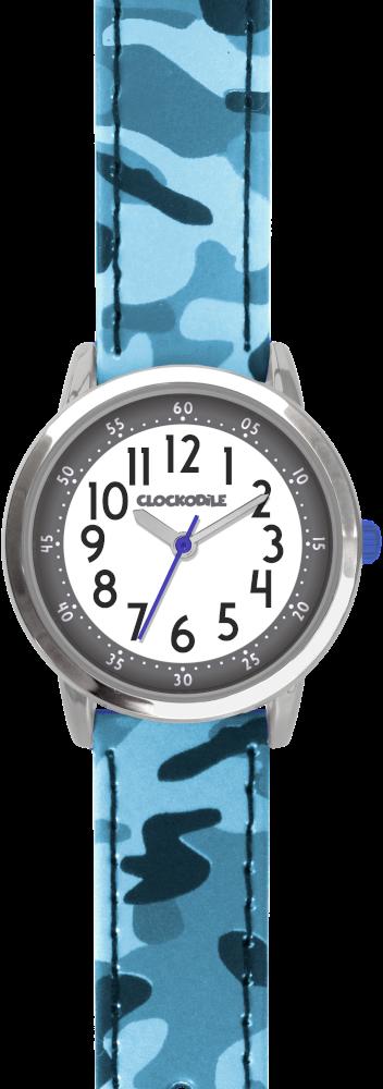 Modré chlapecké dětské hodinky CLOCKODILE ARMY s maskáčovým vzorem