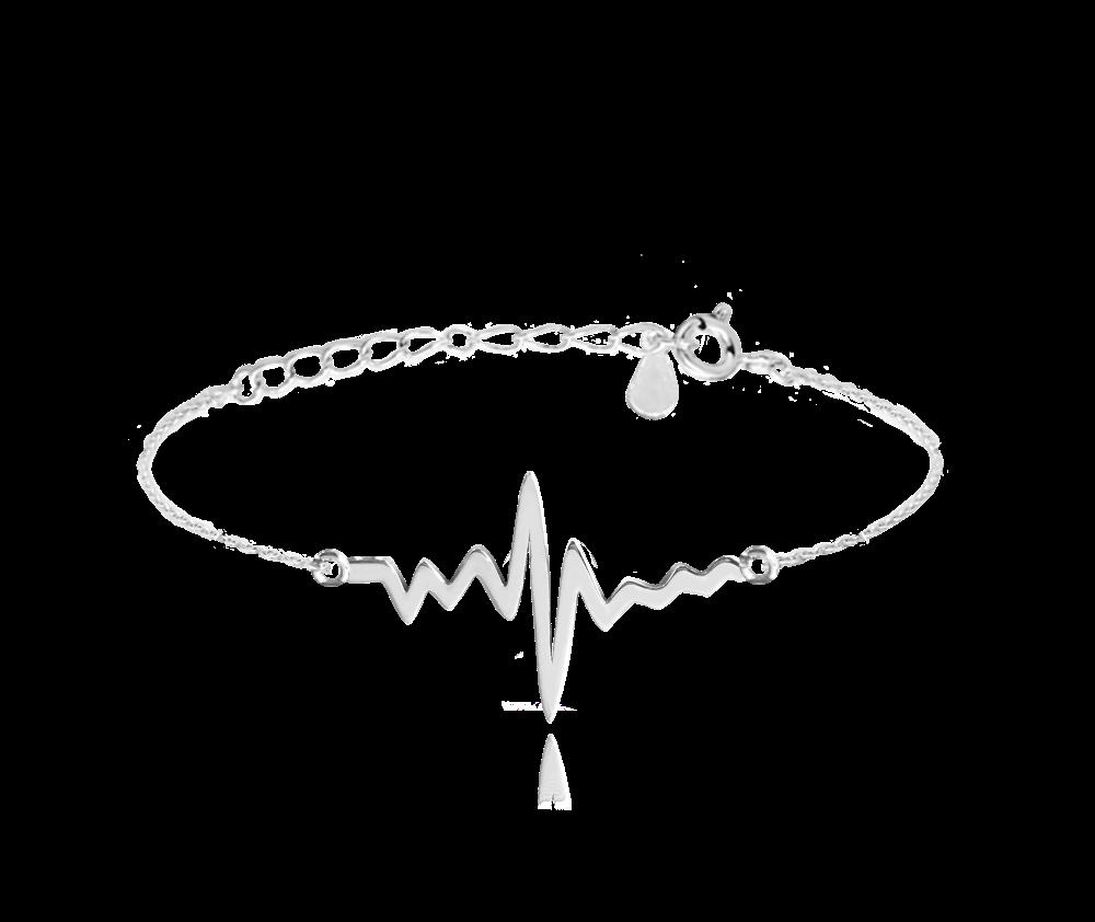 MINET Stříbrný náramek MINET HEARTBEAT JMAN0152SB16