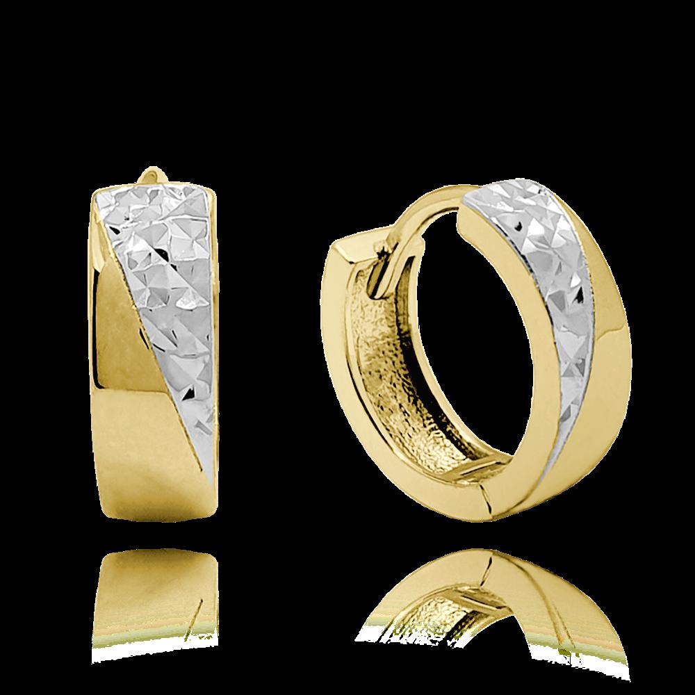 MINET Luxusní stříbrné pozlacené náušnice MINET JMAS0119GE00
