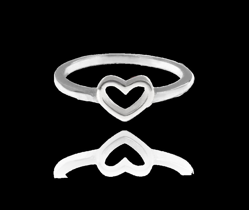 MINET Stříbrný prsten se srdíčkem MINET LOVE vel. 57 JMAS0002SR57