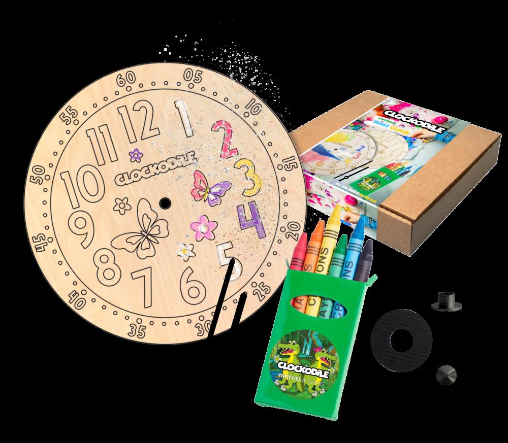 CLOCKODILE Set k výrobě nástěnných hodin s motýlky CLOCKODILE CREATIVE Butterflies CCT0021