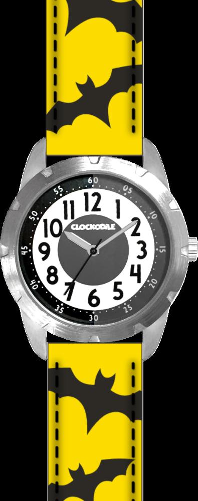 CLOCKODILE Svítící žluto-černé chlapecké dětské hodinky CLOCKODILE SUPERHERO CWB0050