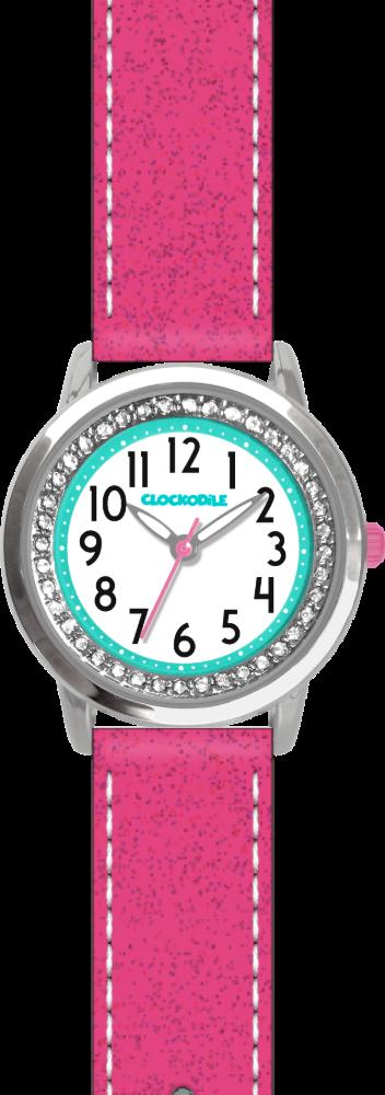 CLOCKODILE Růžové třpytivé dívčí dětské hodinky se kamínky CLOCKODILE SPARKLE CWG5120