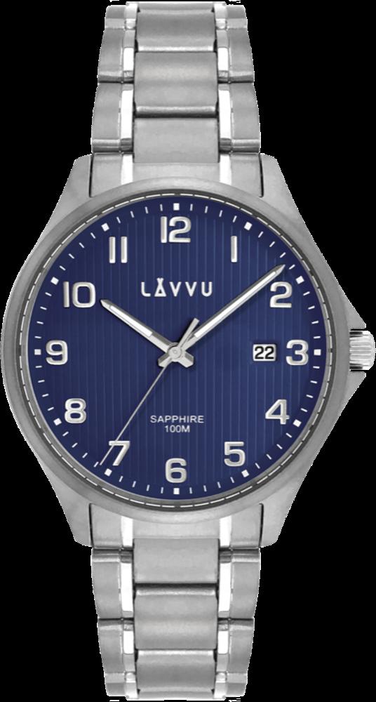 LAVVU Titanové hodinky se safírovým sklem LAVVU TITANIUM LILLEHAMMER Blue LWM0153