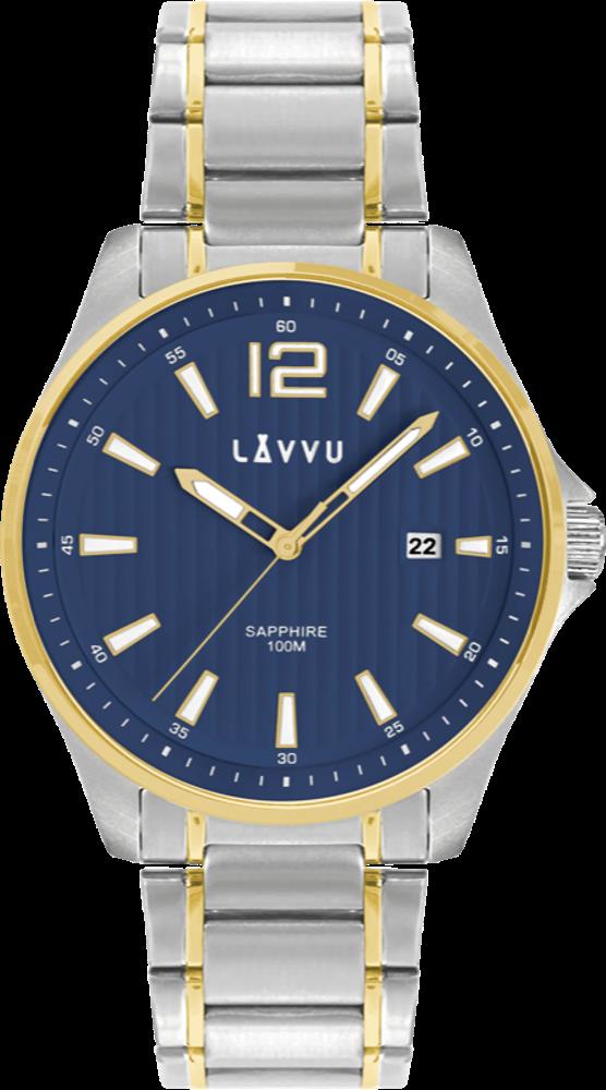 LAVVU Pánské hodinky se safírovým sklem LAVVU NORDKAPP Bicolor Blue LWM0166