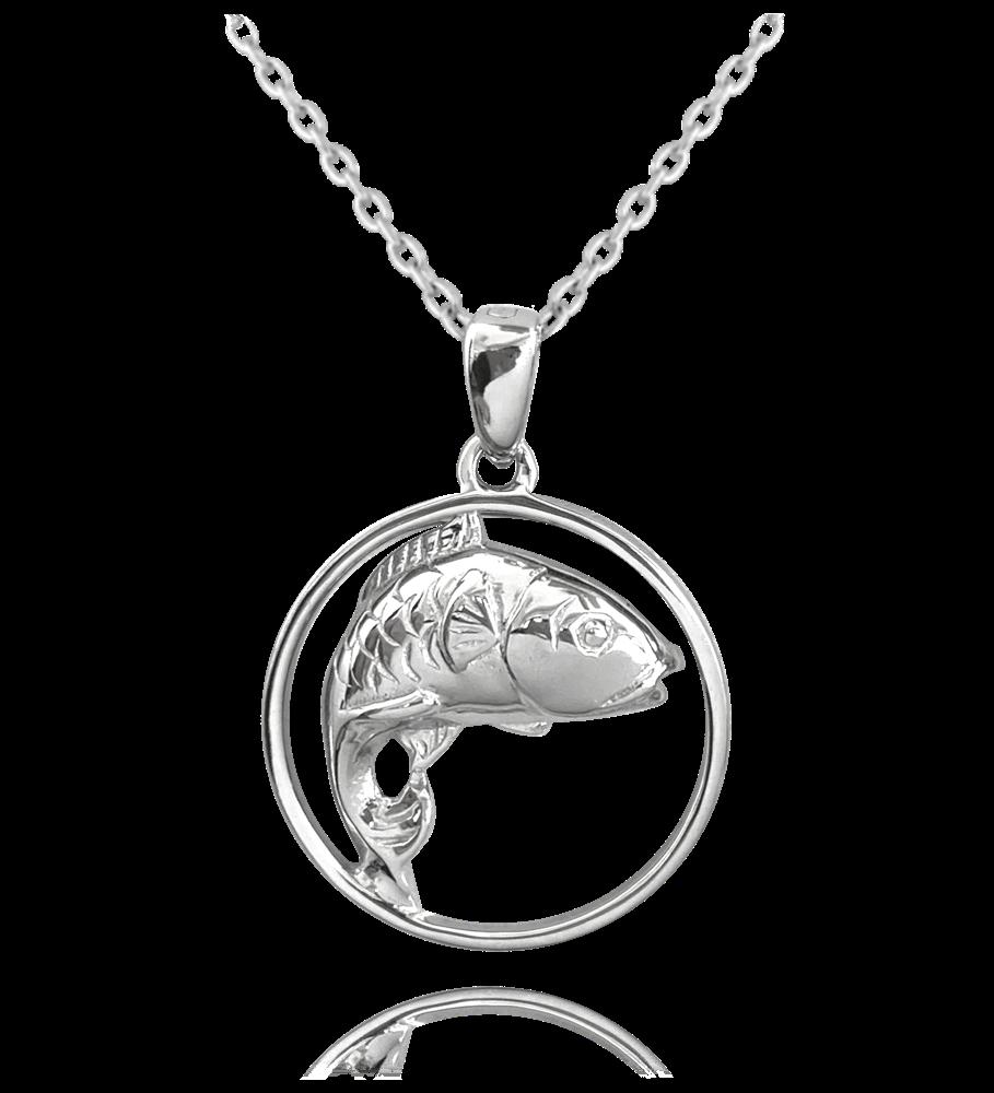 MINET Stříbrný náhrdelník MINET KAPR JMAN0036KN45