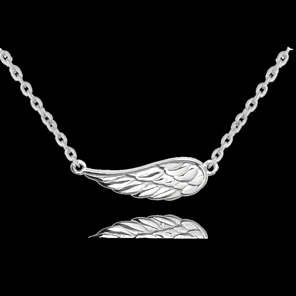 MINET Stříbrný náhrdelník MINET ANDĚLSKÉ KŘÍDLO JMAN0260SN45