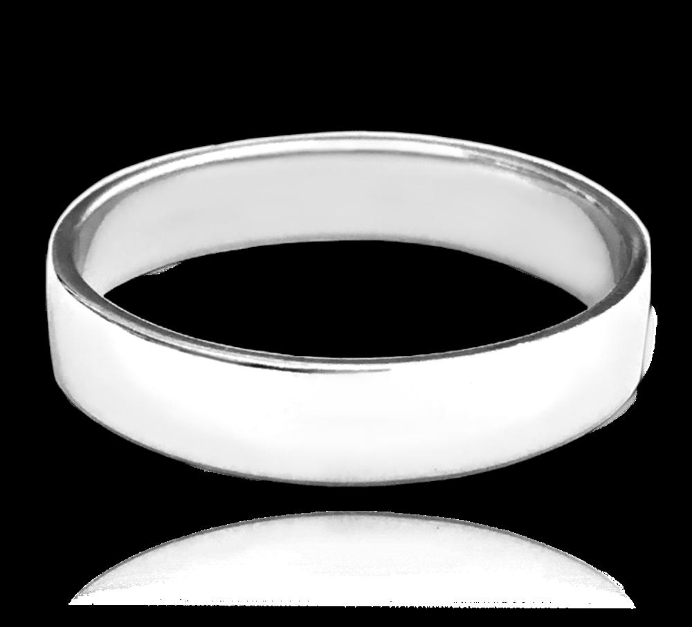 MINET Stříbrný snubní prsten MINET vel. 76 JMAN0138SR76