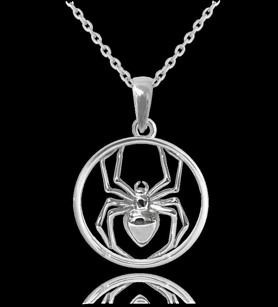 MINET Stříbrný náhrdelník MINET PAVOUK JMAN0036PN45