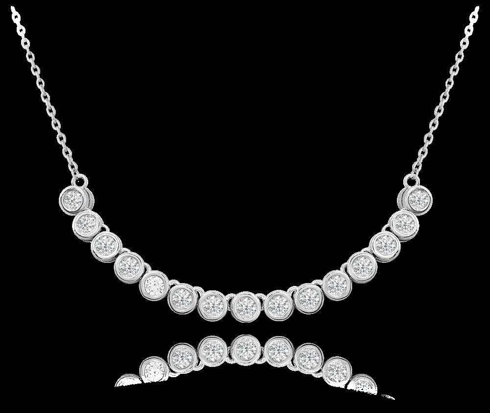 MINET Elegantní stříbrný náhrdelník MINET s bílými zirkony JMAS0126SN45