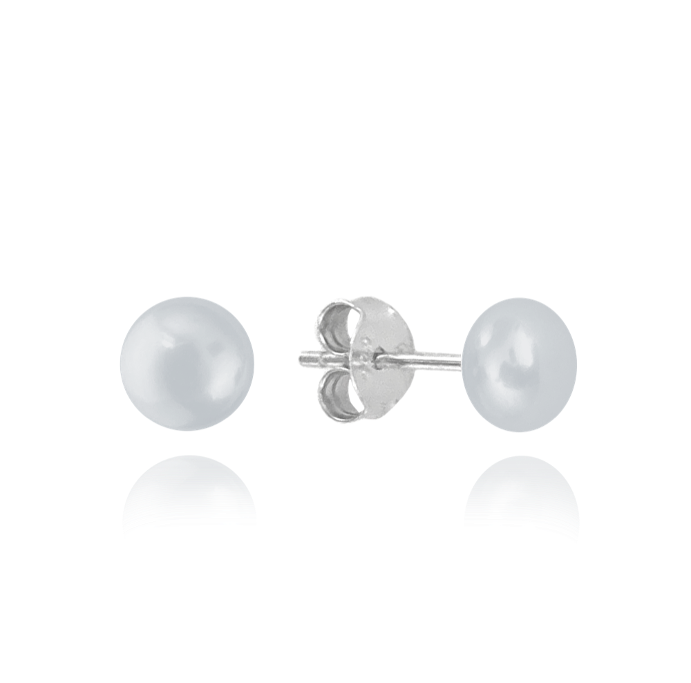 MINET Stříbrné náušnice MINET PERLY - stříbrné 4mm JMAS7010SE04