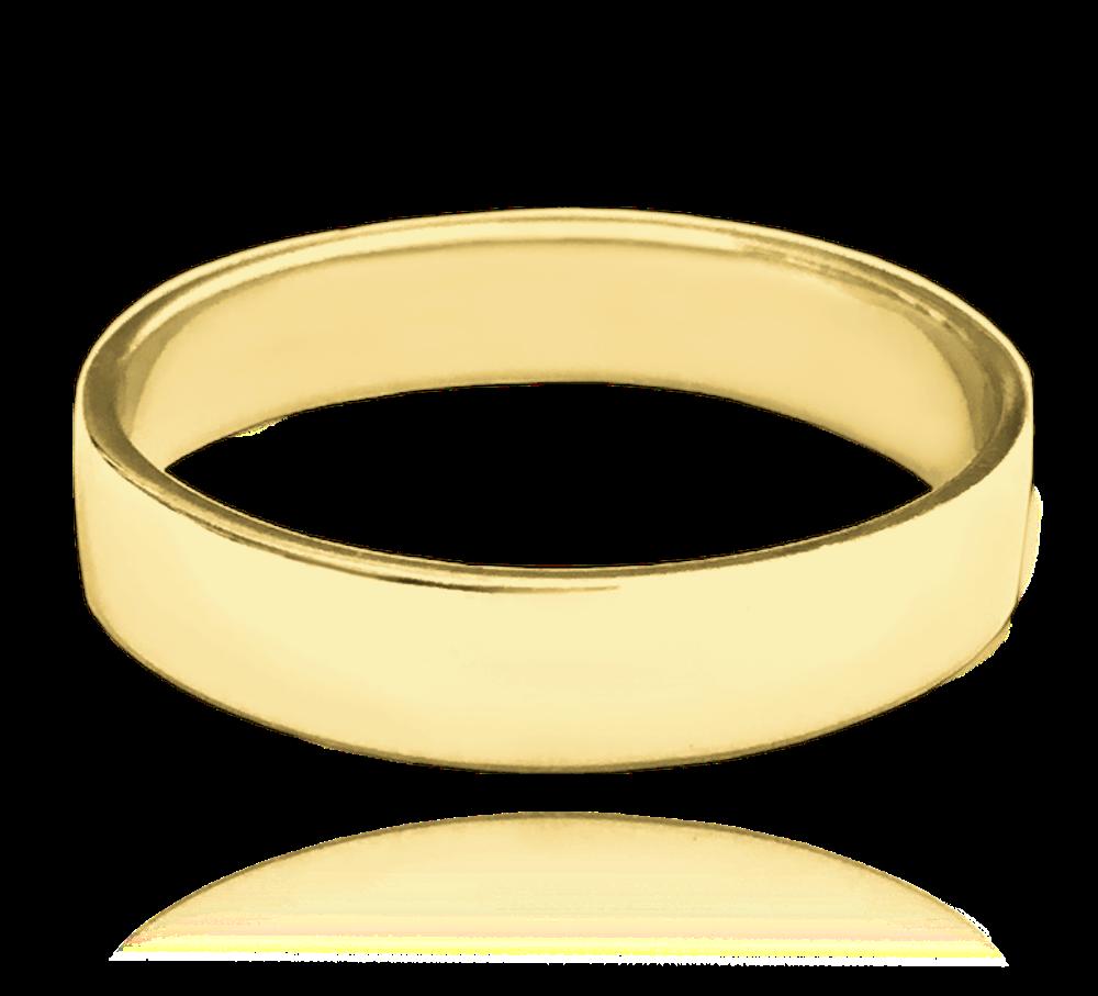 MINET Pozlacený stříbrný snubní prsten MINET vel. 76 JMAN0138GR76