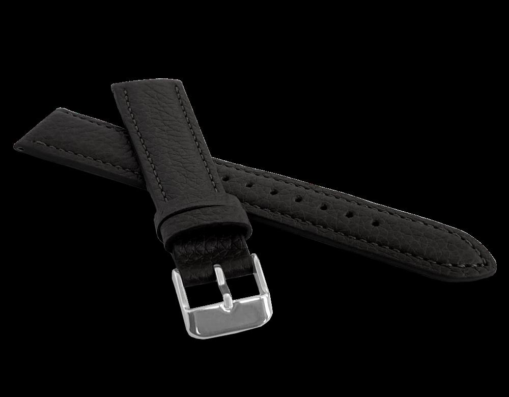 LAVVU Černý polstrovaný řemínek LAVVU BISON z luxusní kůže Top Grain - 20 LSHUB20