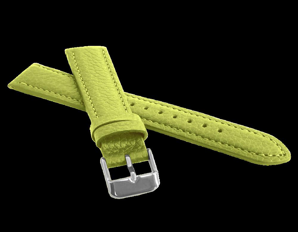 LAVVU Zelený polstrovaný řemínek LAVVU BISON z luxusní kůže Top Grain - 14 LSHUG14