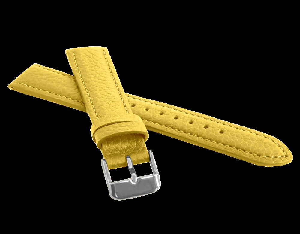 LAVVU Žlutý polstrovaný řemínek LAVVU BISON z luxusní kůže Top Grain - 14 LSHUO14