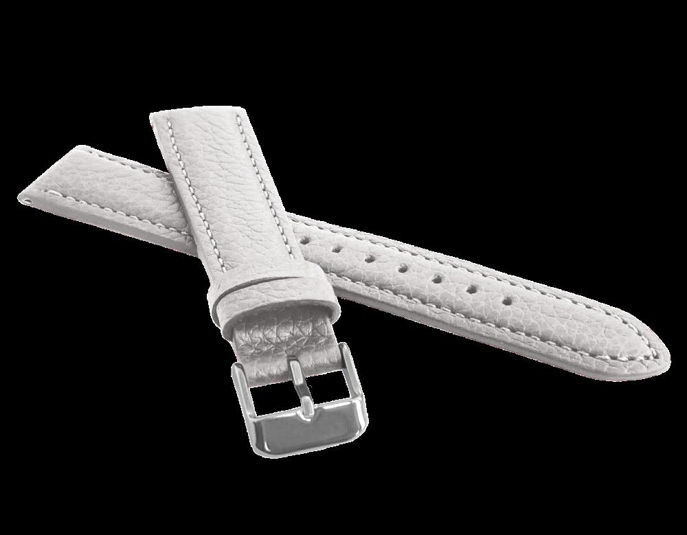 LAVVU Bílý polstrovaný řemínek LAVVU BISON z luxusní kůže Top Grain - 14 LSHUW14