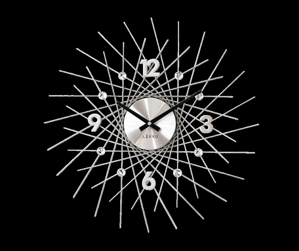 Stříbrné hodiny LAVVU CRYSTAL Lines