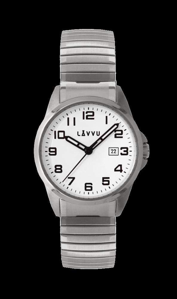 Pánské pružné hodinky LAVVU STOCKHOLM Big White