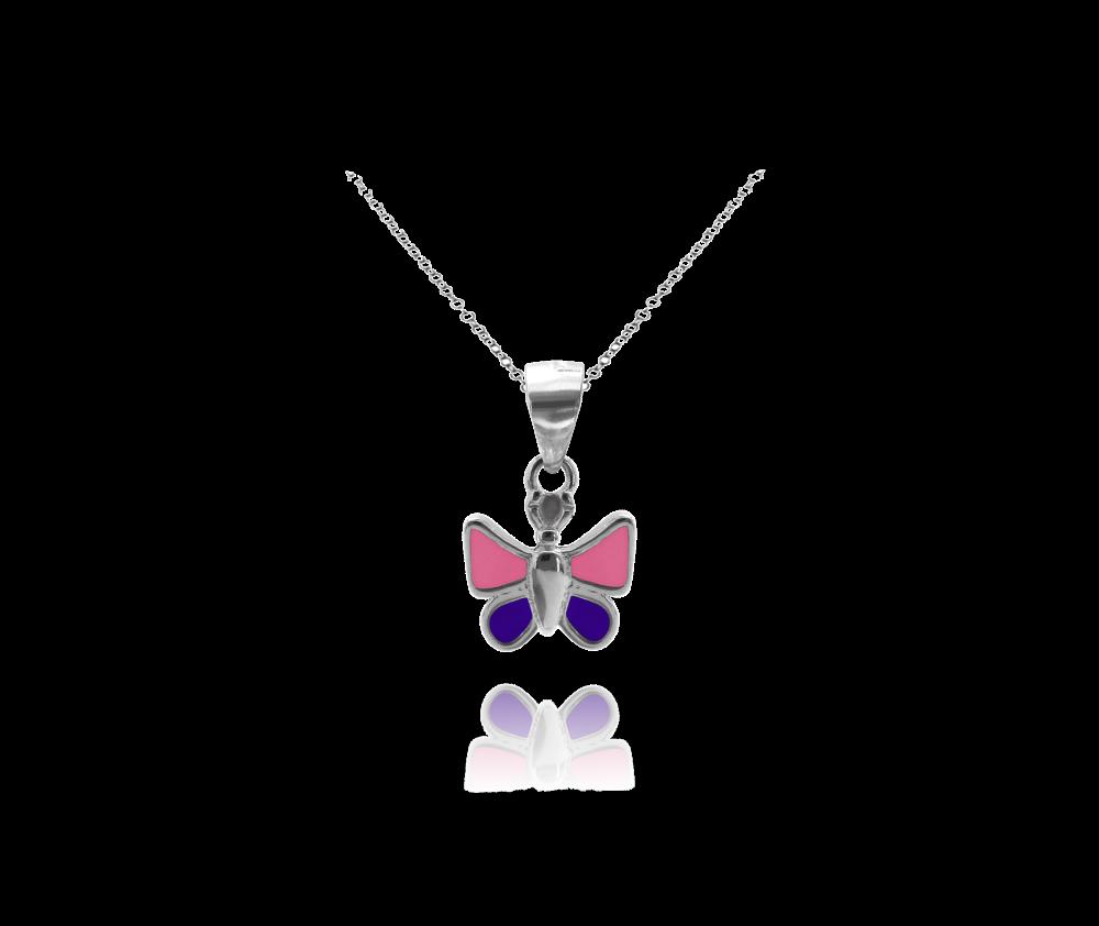 Stříbrný náhrdelník MINET MOTÝLEK
