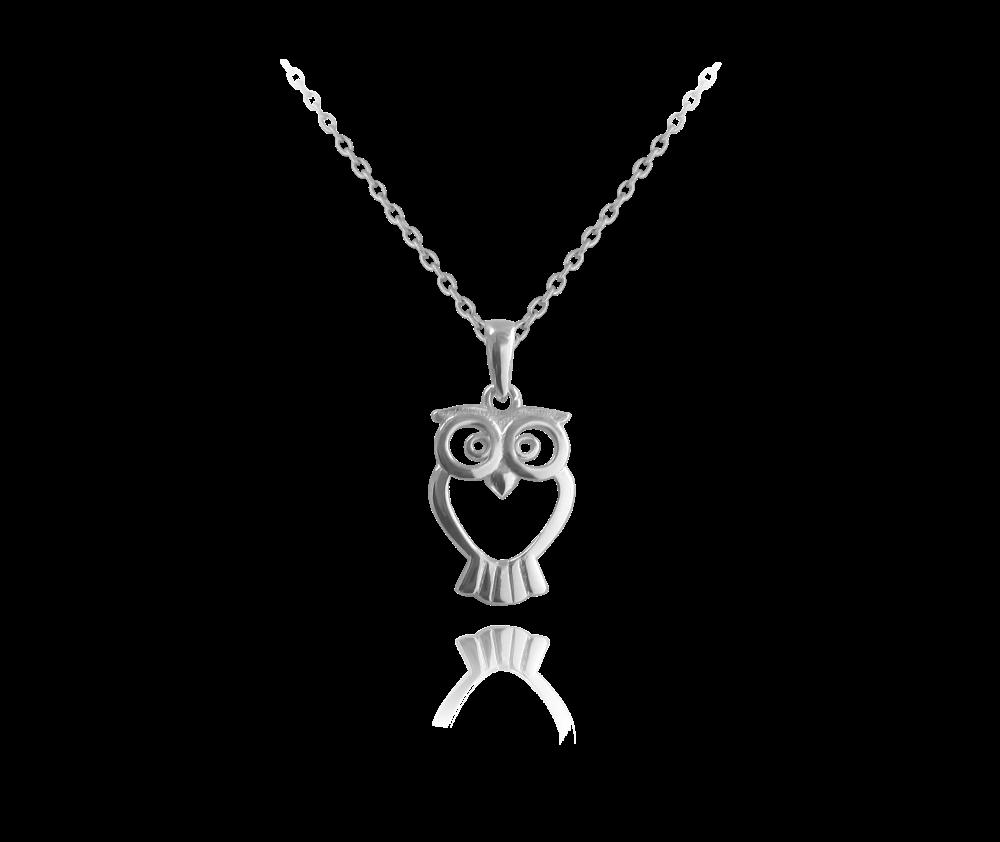 Stříbrný náhrdelník MINET SOVIČKA