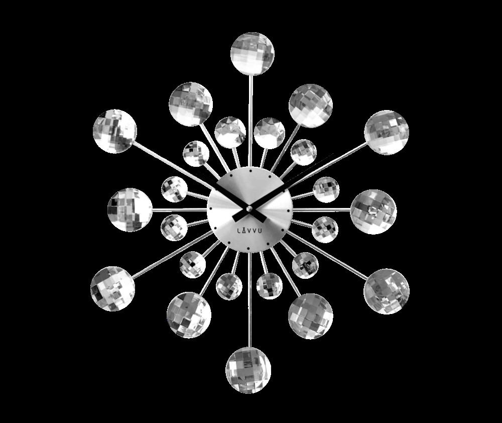 Stříbrné hodiny LAVVU CRYSTAL Sunlight