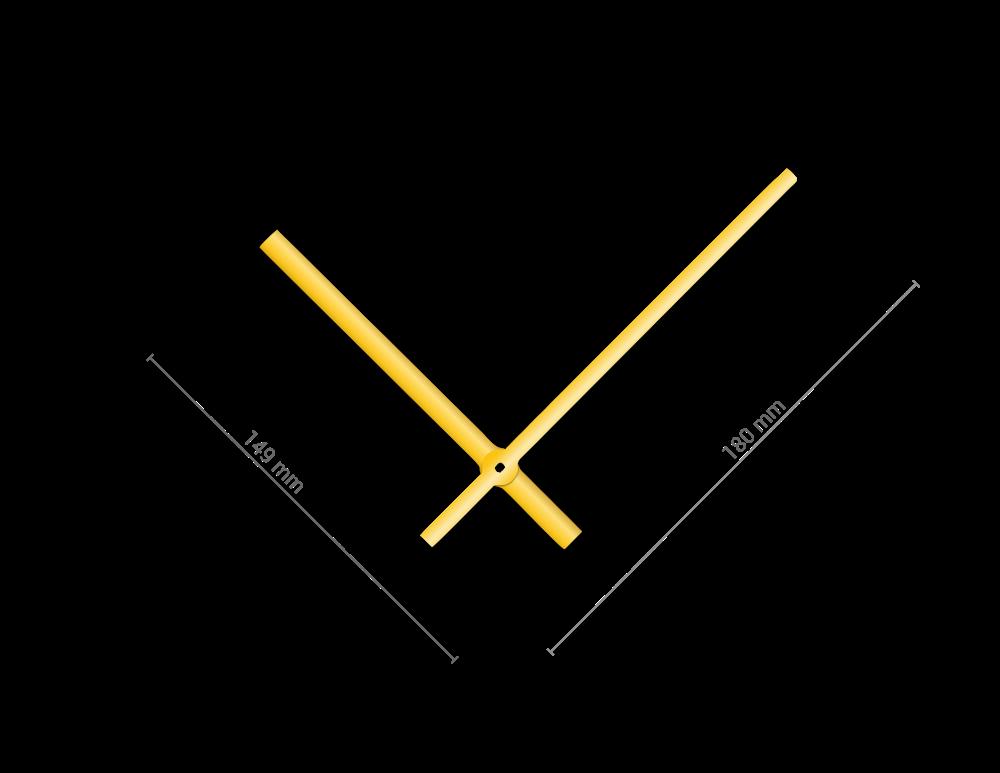 Zlaté rovné hliníkové ručičky na hodiny 145 mm | 113 mm