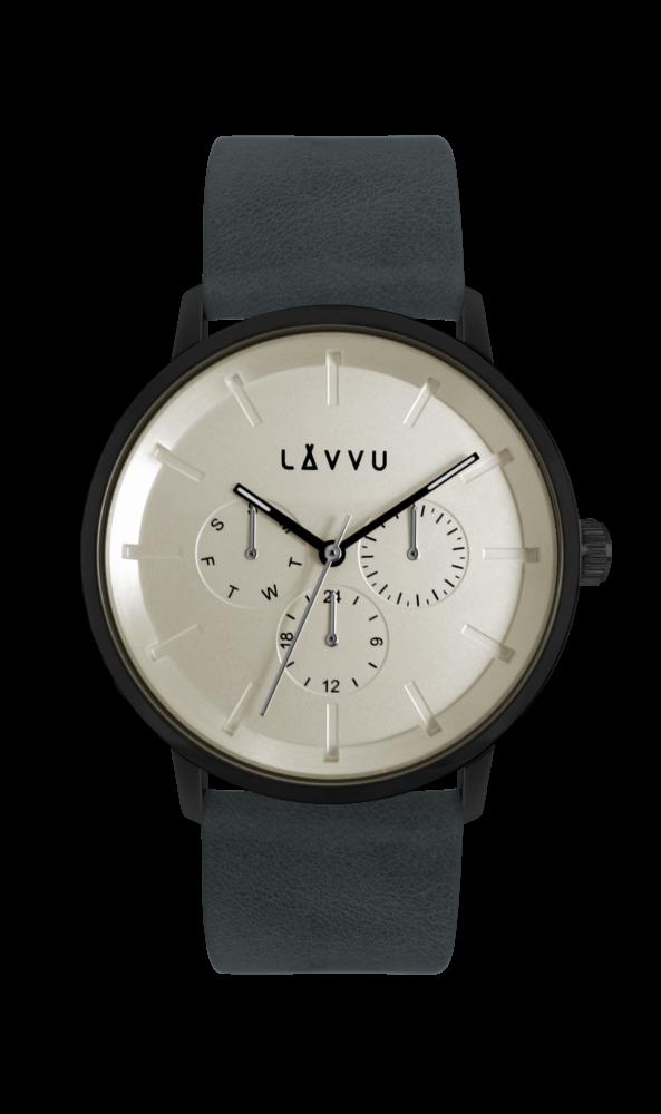 Tmavě modré multifunkční hodinky LAVVU TROMSØ INDIGO BLUE