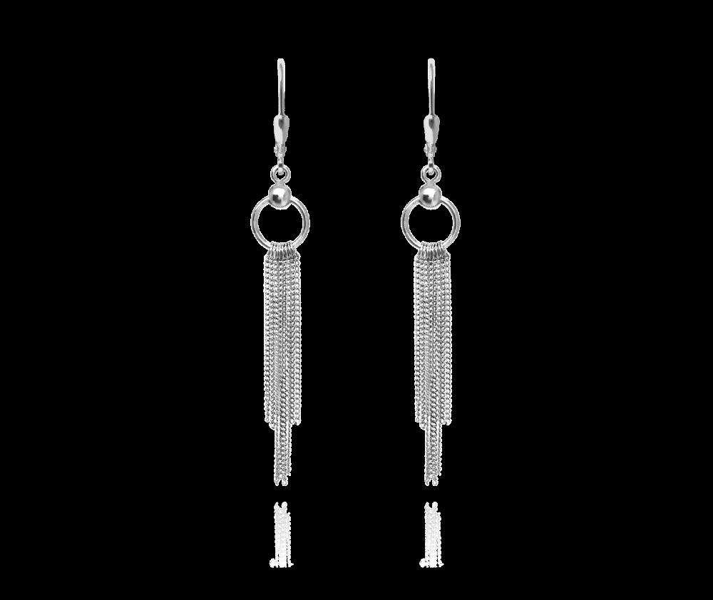 MINET Řetízkové stříbrné visací náušnice MINET JMAS0019SE00