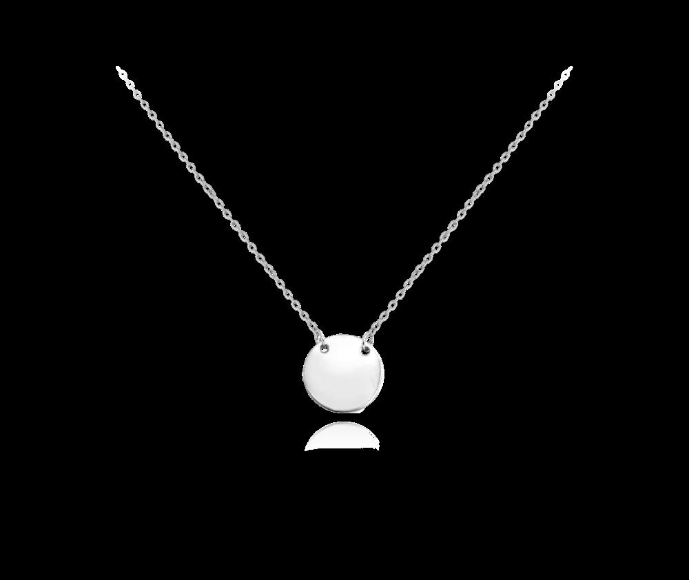 MINET Stříbrný náhrdelník MINET ENGRAVE - kroužek pro gravírování JMAS8200SN48