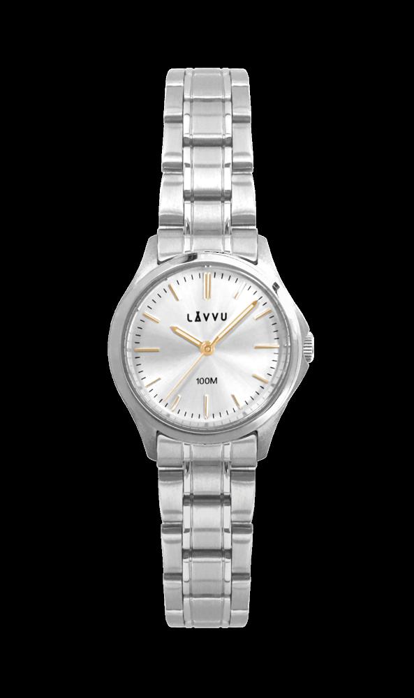 Dámské hodinky LAVVU ARENDAL Gold s vodotěsností 100M