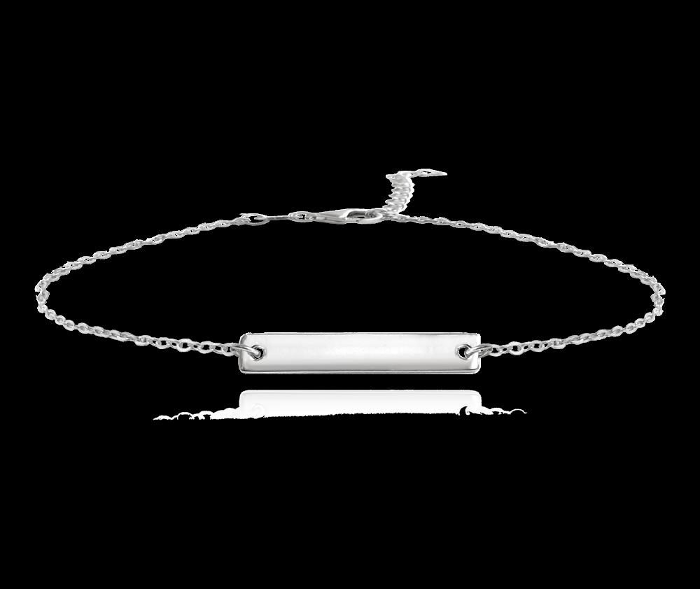 MINET Stříbrný náramek MINET ENGRAVE - pro gravírování JMAS8201SB18