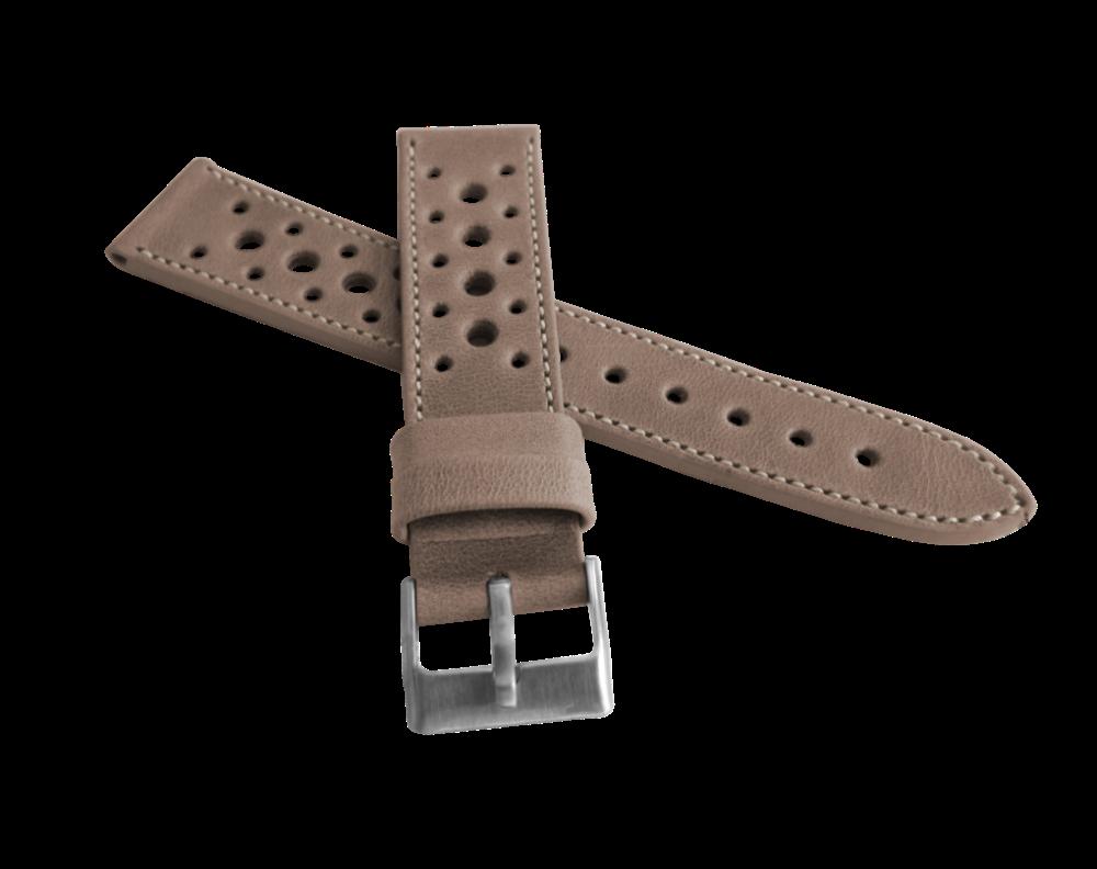 Perforovaný béžový prošitý řemínek LAVVU VINTAGE z luxusní kůže Top Grain - 18