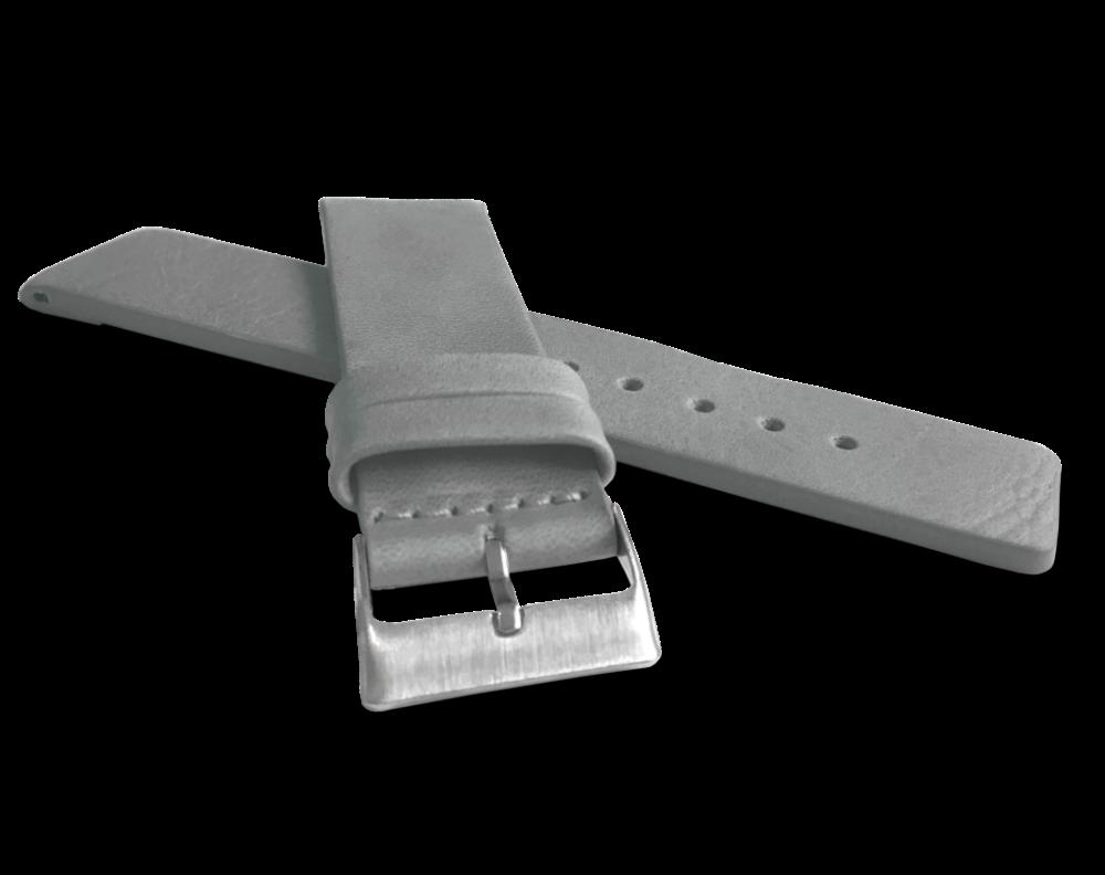 Šedý hladký řemínek LAVVU PLAIN z luxusní kůže Top Grain - 22