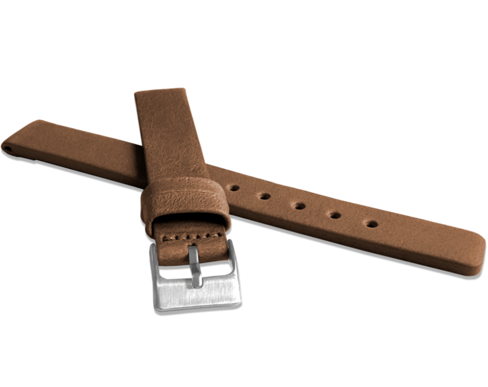 Hnědý hladký řemínek LAVVU PLAIN z luxusní kůže Top Grain - 16