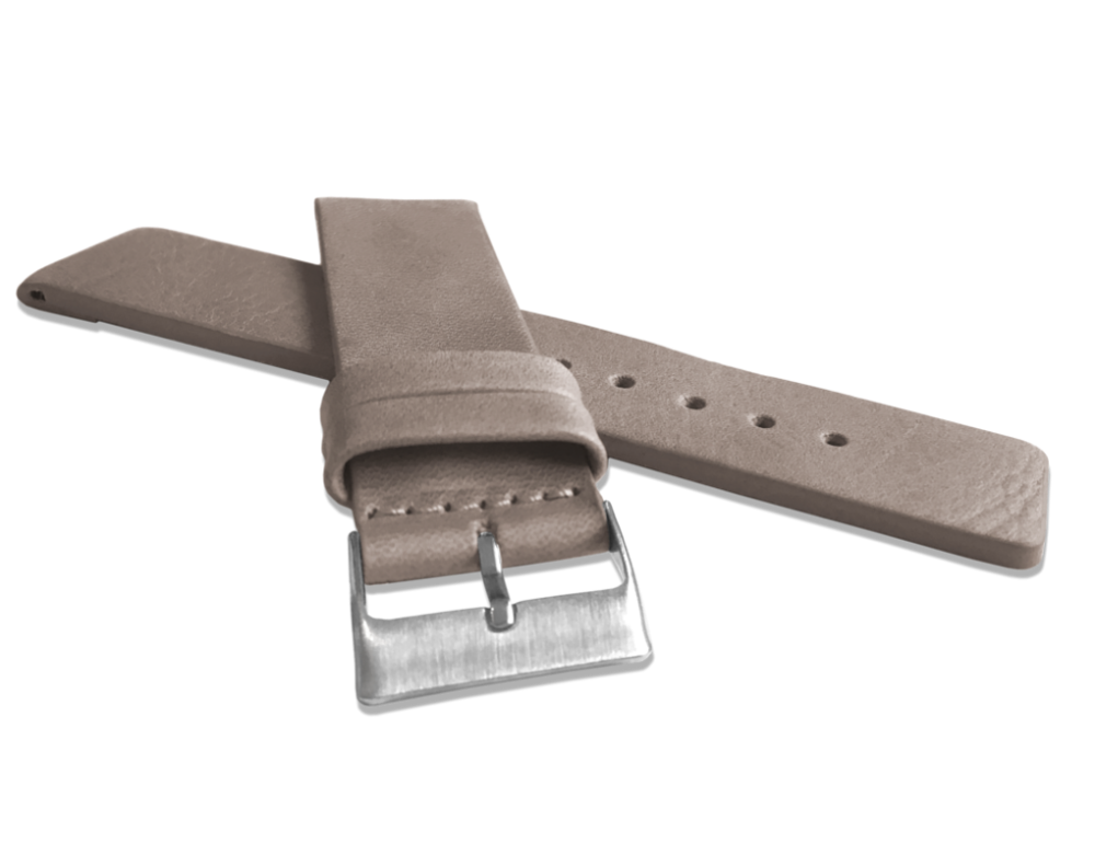 Béžový hladký řemínek LAVVU PLAIN z luxusní kůže Top Grain - 22