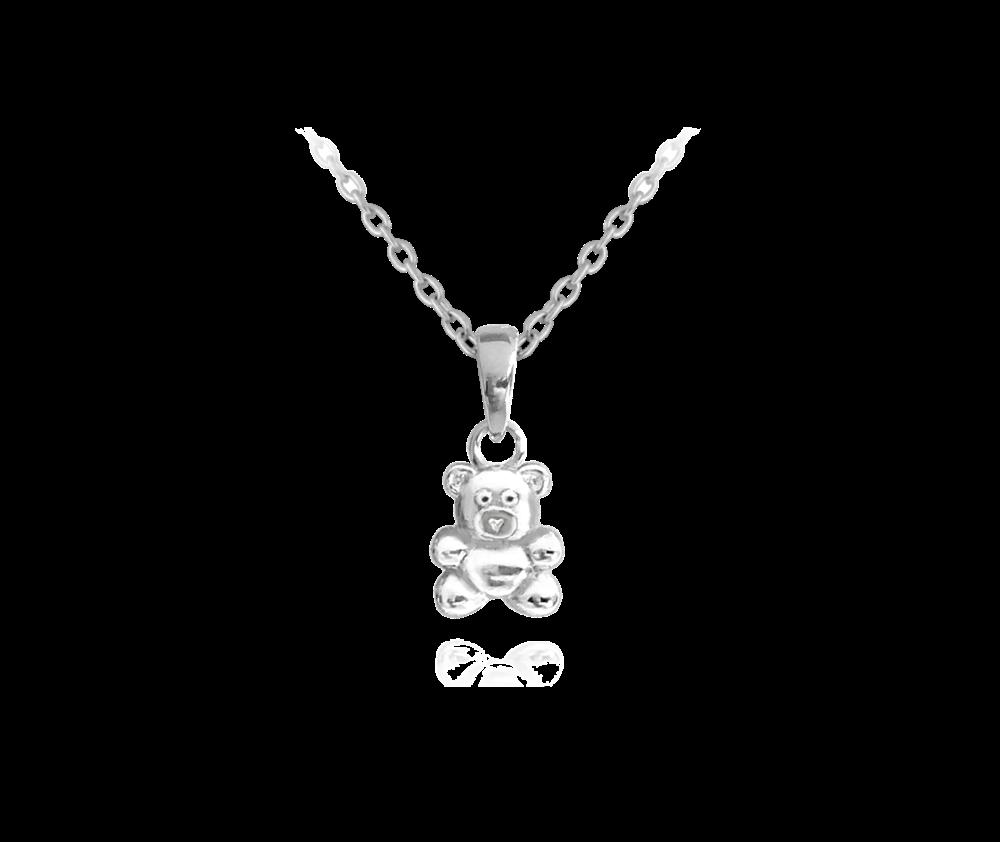 Stříbrný náhrdelník MINET MEDVÍDEK