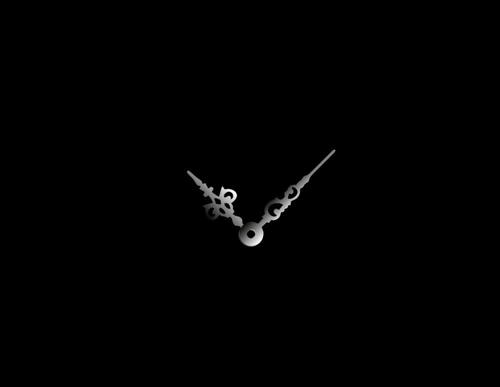 Malé stříbrné hliníkové ručičky na hodiny Antik 30 mm | 24 mm