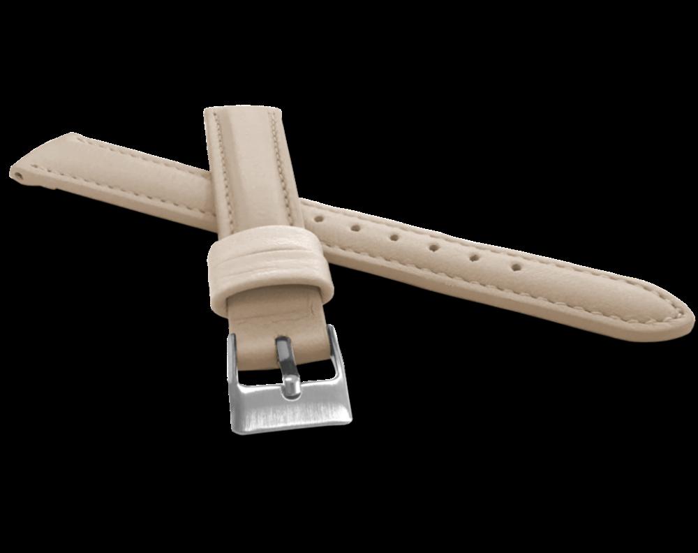Krémový prošitý řemínek MINET z luxusní kůže Top Grain - 14