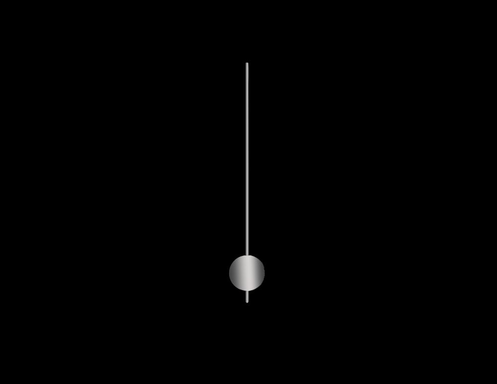 Stříbrné kulaté kyvadlo na hodiny 50 mm | 255 mm