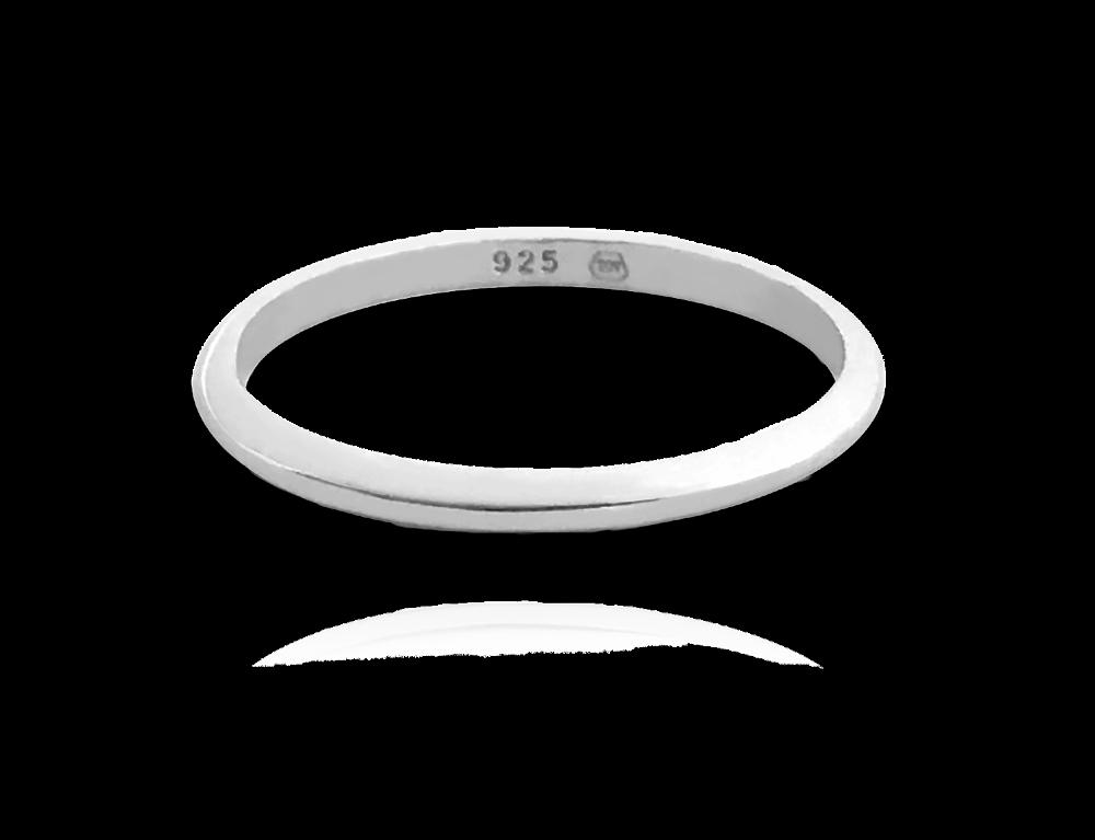 Minimalistický stříbrný prsten MINET vel. 55
