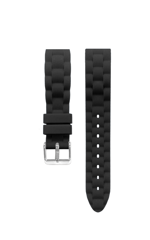 Silikonový černý řemínek k dětským hodinkám CLOCKODILE